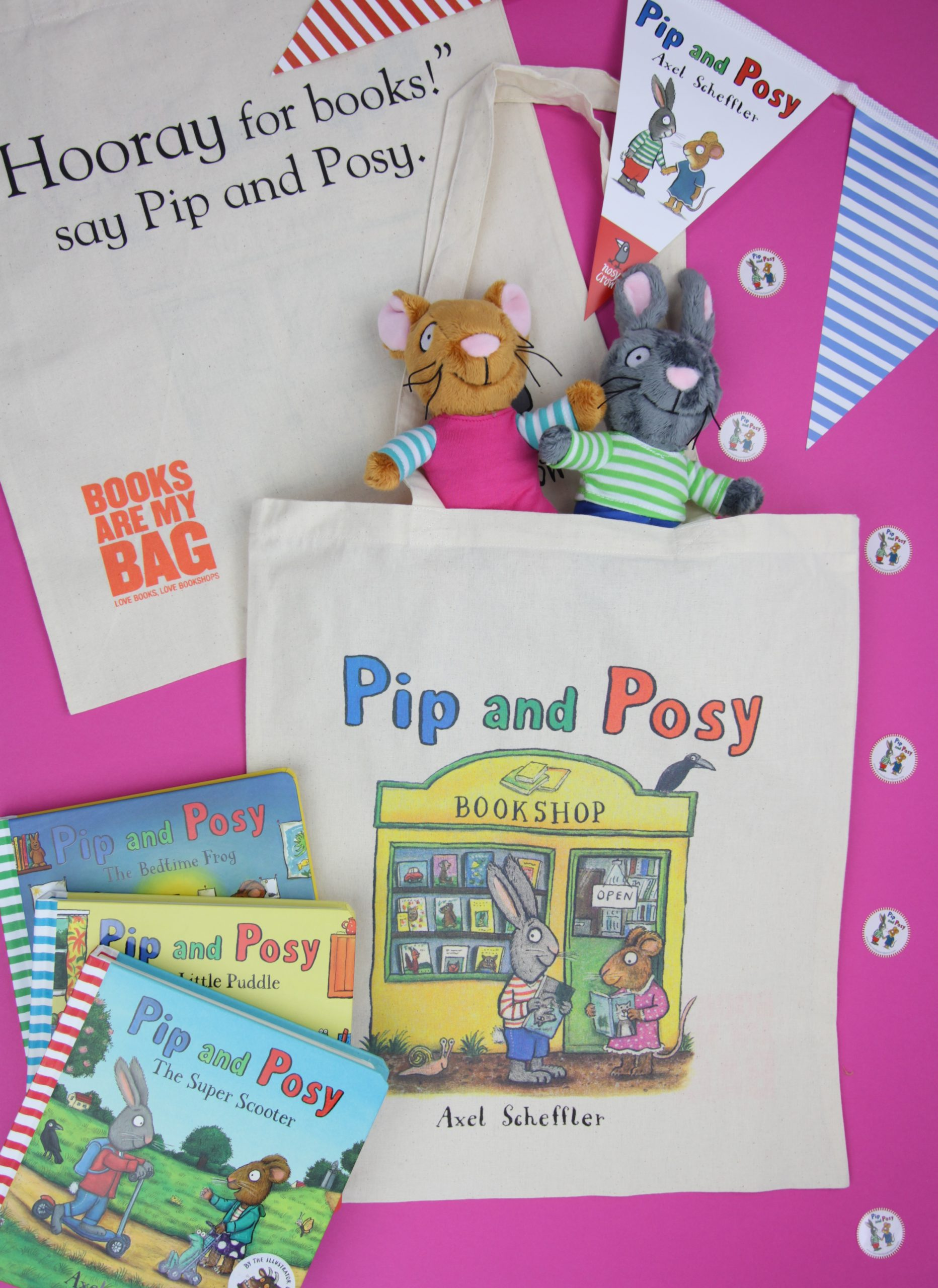 Pip and Posy - Books are my Bag