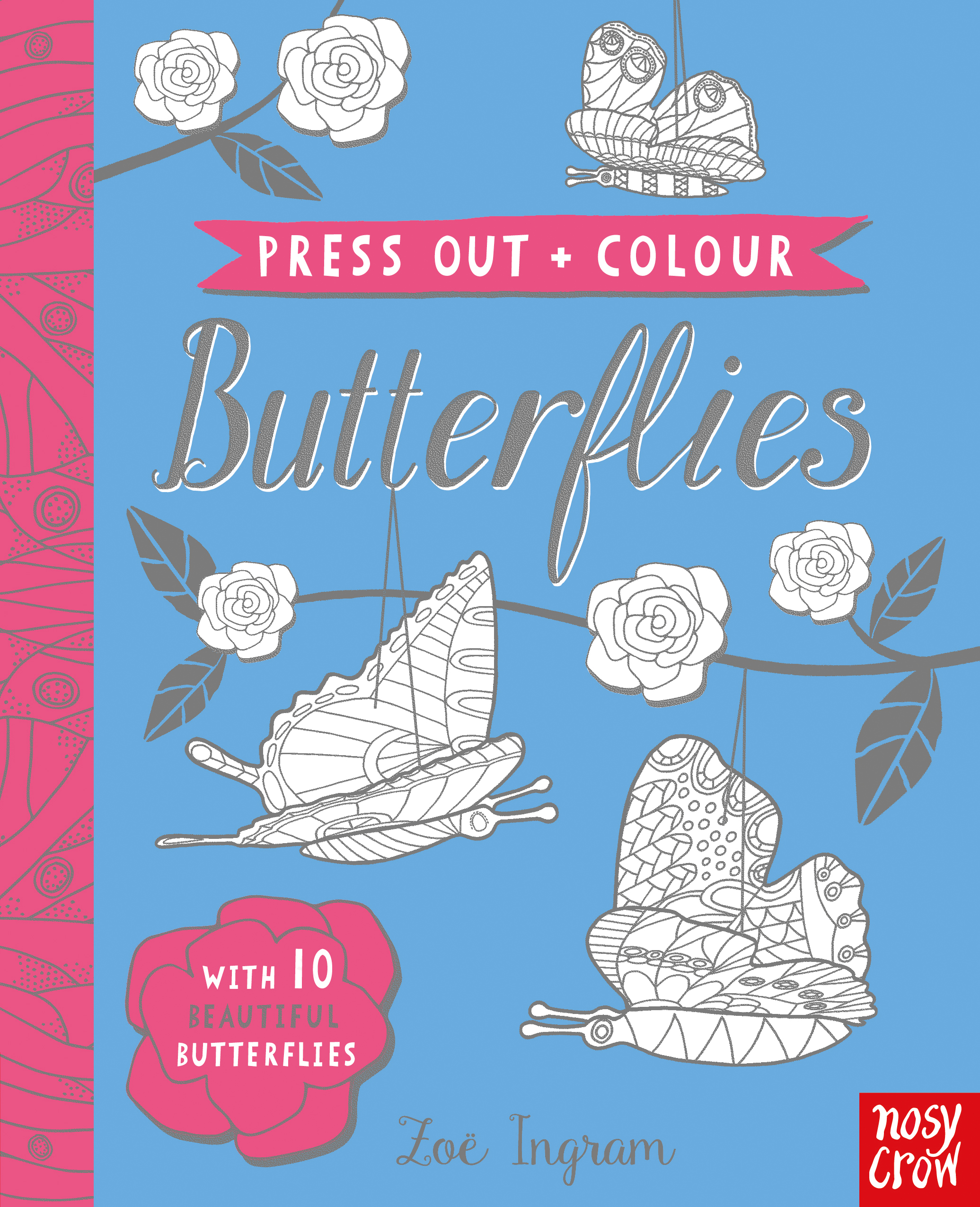 Press Out And Colour Butterflies