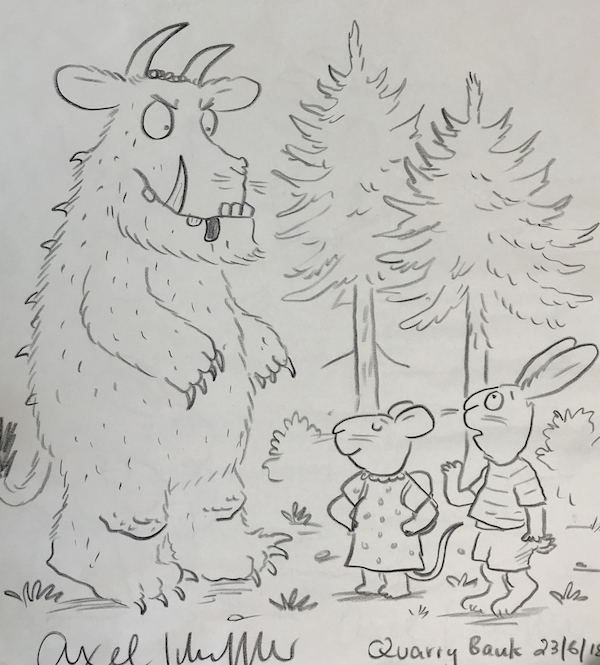 The Gruffalo meets Pip and Posy